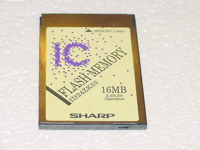 SHARP 16MB  LINEAR MEMORY PCMCIA CARD  3.3//5.0V