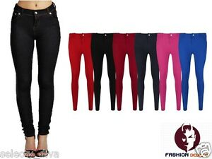 New-Ladies-Womens-Fashion-Coloured-Skinny-Jeggings-Leggings-Jeans-Plus-size-8-18