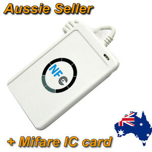 Details about NFC ACR122U RFID Non contact smart Reader &  Writer/USB+Software+Mifare IC Card
