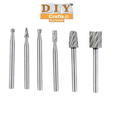 6pcs HSS Routing Router Grinding Bits Burr For Dremel Bosch Rotary Tool DIY Craf