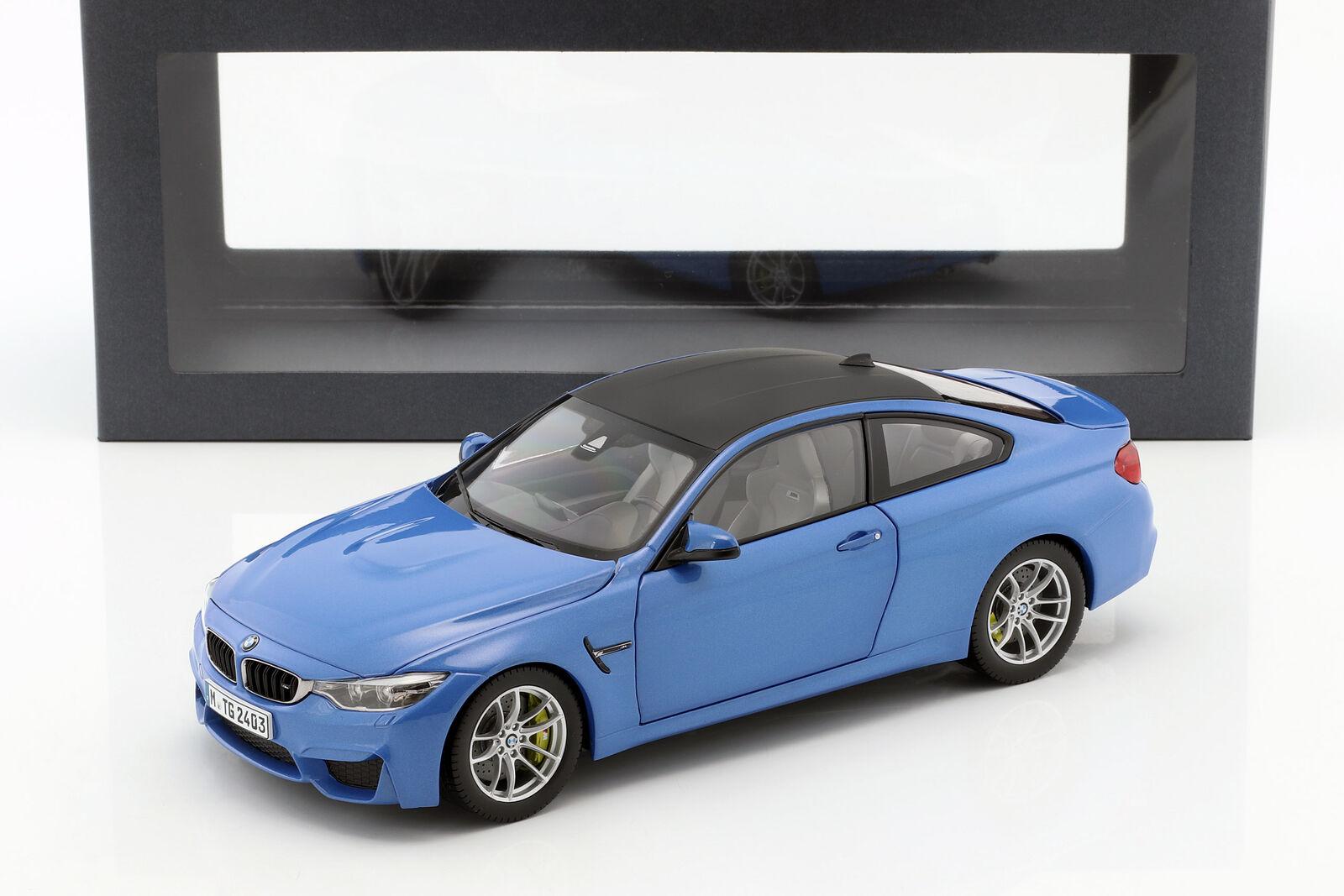 BMW M4 F82 Coupè Anno 2014 Blu Mettuttiizzato 1 18 Paragonmodellolos