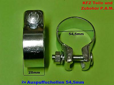 2x Auspuffschellen 59,5mm Rohrschelle Rohrverbinder Schelle Auspuffschelle