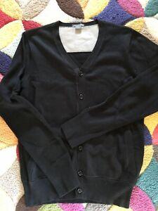 Armani-Exchange-Men-039-s-Black-Button-up-Cotton-Cardigan-S-VGC
