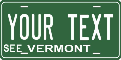Vermont 1969 License Plate Personalized Custom Auto Bike Motorcycle Moped Tag