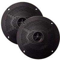 Seaworthy Sea5632 100w 6.5 Inch Round Waterproof Boat Speakers 2-way Black Pair