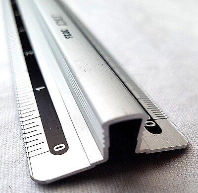 Jakar 12 Zoll 30 Cm Aluminium Lineal Raised Finger Grip Bar Metrisch & Imperial StäRkung Von Sehnen Und Knochen