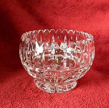 Vintage Hand Cut Leaded Crystal,  Rose Bowl, Bud Vase, Candy Vase