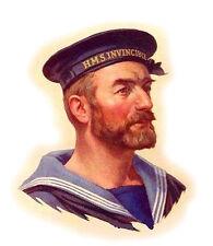 "4pcs 2.5/""x3.5/"" FLONZ 412-0319 Vintage Man Portrait Gentleman Waterslide Decals"