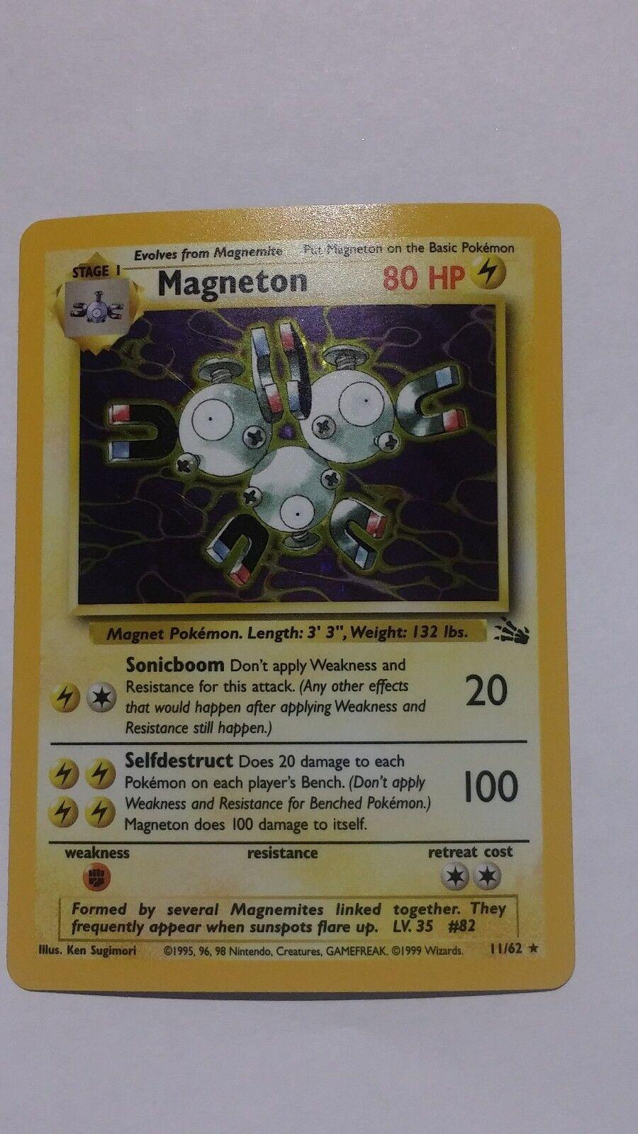 Seltene - magneton, fossil, pokemon, 11   62, englisch