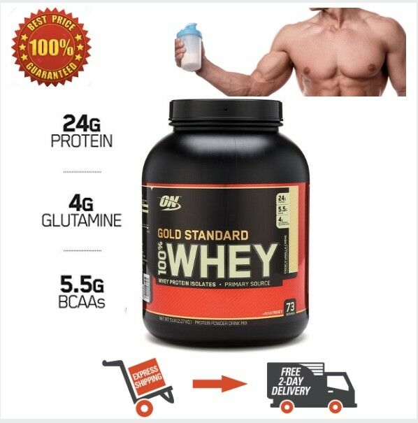 b02b4753891e Buy Optimum Nutrition Gold Standard 100 Whey Protein Powder Double Rich  Chocolate 5 Pound online