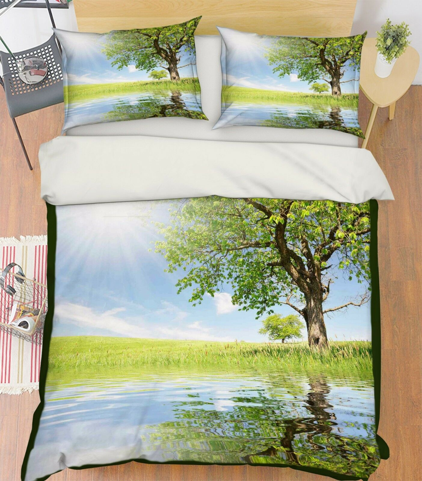 3D Sunny Grass 688 Bed Pillowcases Quilt Duvet Cover Set Single Queen AU Carly