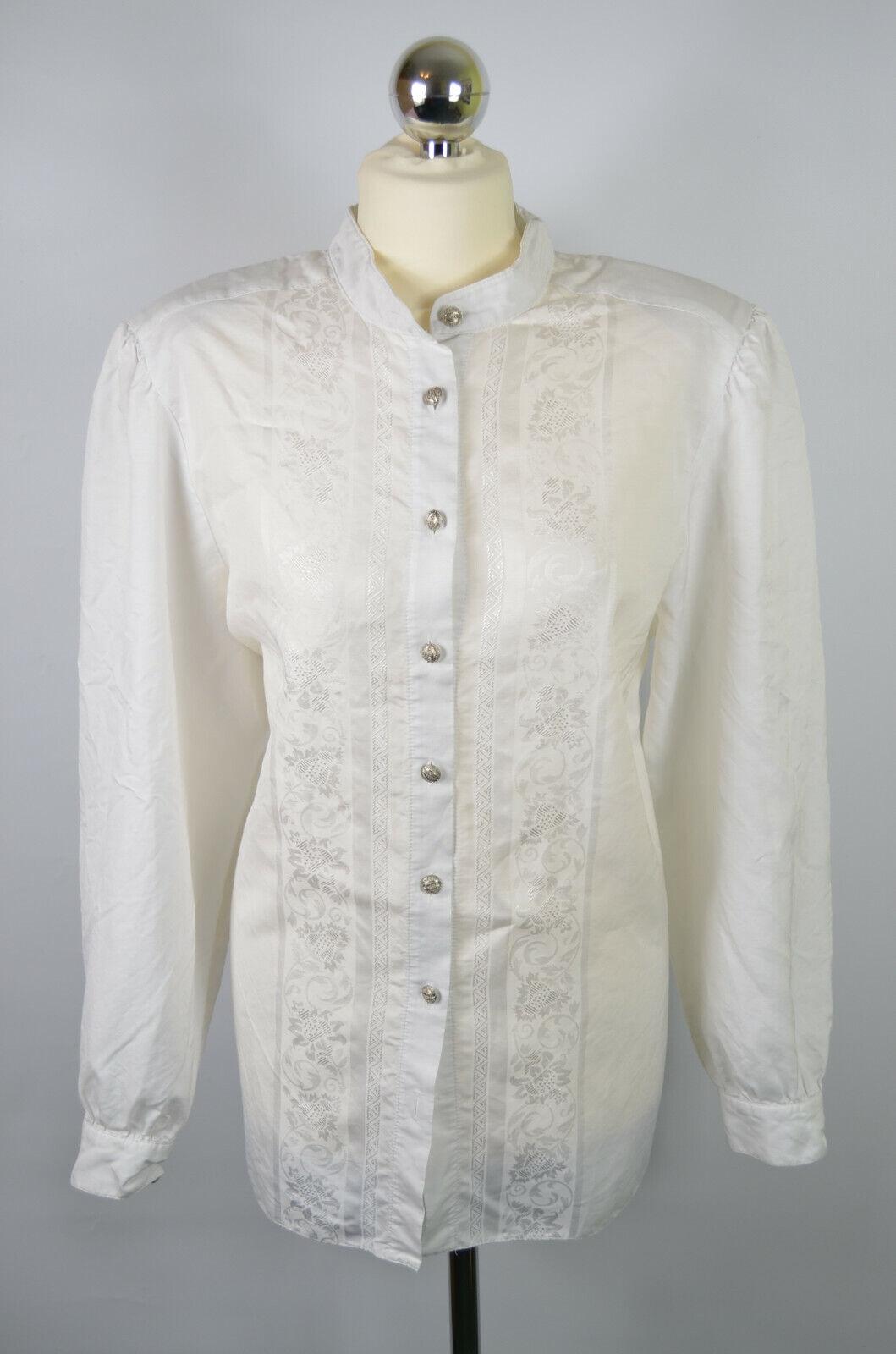 ST.MICHAEL WOMENS SHIRT (20 50) WHITE HEMD LADIES BUTTONS TRACHTEN BAVARIA TOP