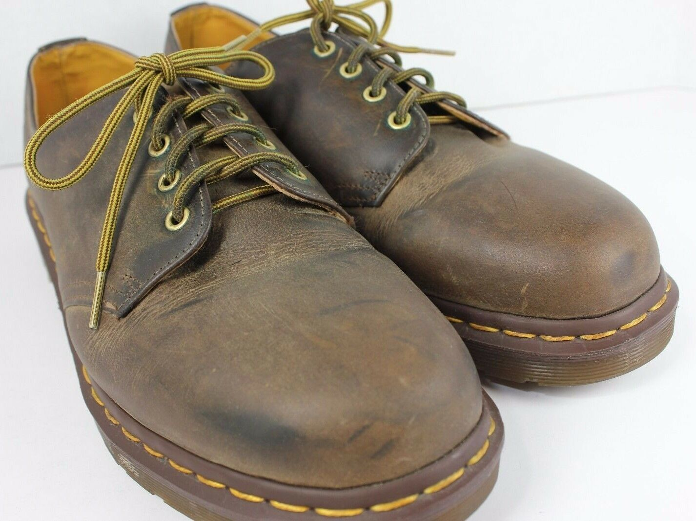 Mens Dr Martens Brown Leather Size 12 Lace Up Oxford Casual shoes Thick Soles