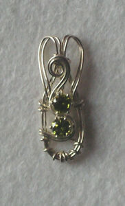 Hand crafted sterling silver pendant with yellow cubic zirconia - Alfreton, United Kingdom - Hand crafted sterling silver pendant with yellow cubic zirconia - Alfreton, United Kingdom