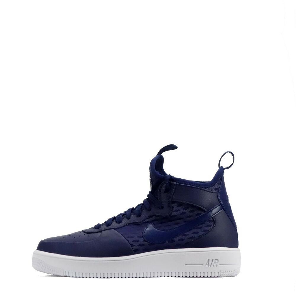 Nike Air Force 1 UltraForce Mi Homme Cheville Style Baskets en Binaire Bleu-
