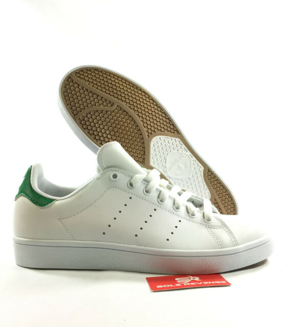 timeless design cff05 2cb61 NEW adidas Originals STAN SMITH VULC SHOES White Green Skate Sneakers B49618