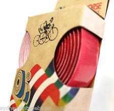 BIKE HANDLE BAR TAPE Handlebar Self Adhesive GRIP 4 ROAD BIKE FIXIE BICYCLE RED