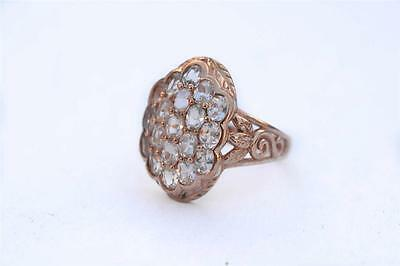 New 10k Rose Gold Oval Morganite 3.80 cttw Ring Size 8  Cluster