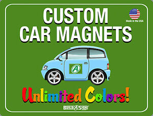 X Custom Car Magnets Magnetic Auto Truck Signs EBay - Custom car magnet signs