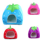 Collapsible Strawberry Cat Bed Puppy Warm Pet Doggy Cushion Soft Kennel House