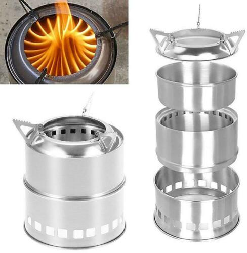 Sale Portable Wood Gas Backpacking Wood Burning For Camping Picnic BBQ Stove Hot