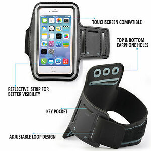 sports shoes 2086e 83dca Details about Sports Gym Armband Cover Jogging Cycle Running Arm Holder  Case Cell Phone BLACK