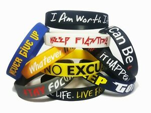 10-Pack-Motivational-Silicone-Rubber-Sport-Wristbands-8-inch-Unisex