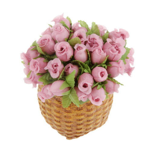144Pcs Artificial Flower Rose Heads Silk Plant Floral Wedding Decor Pink #1