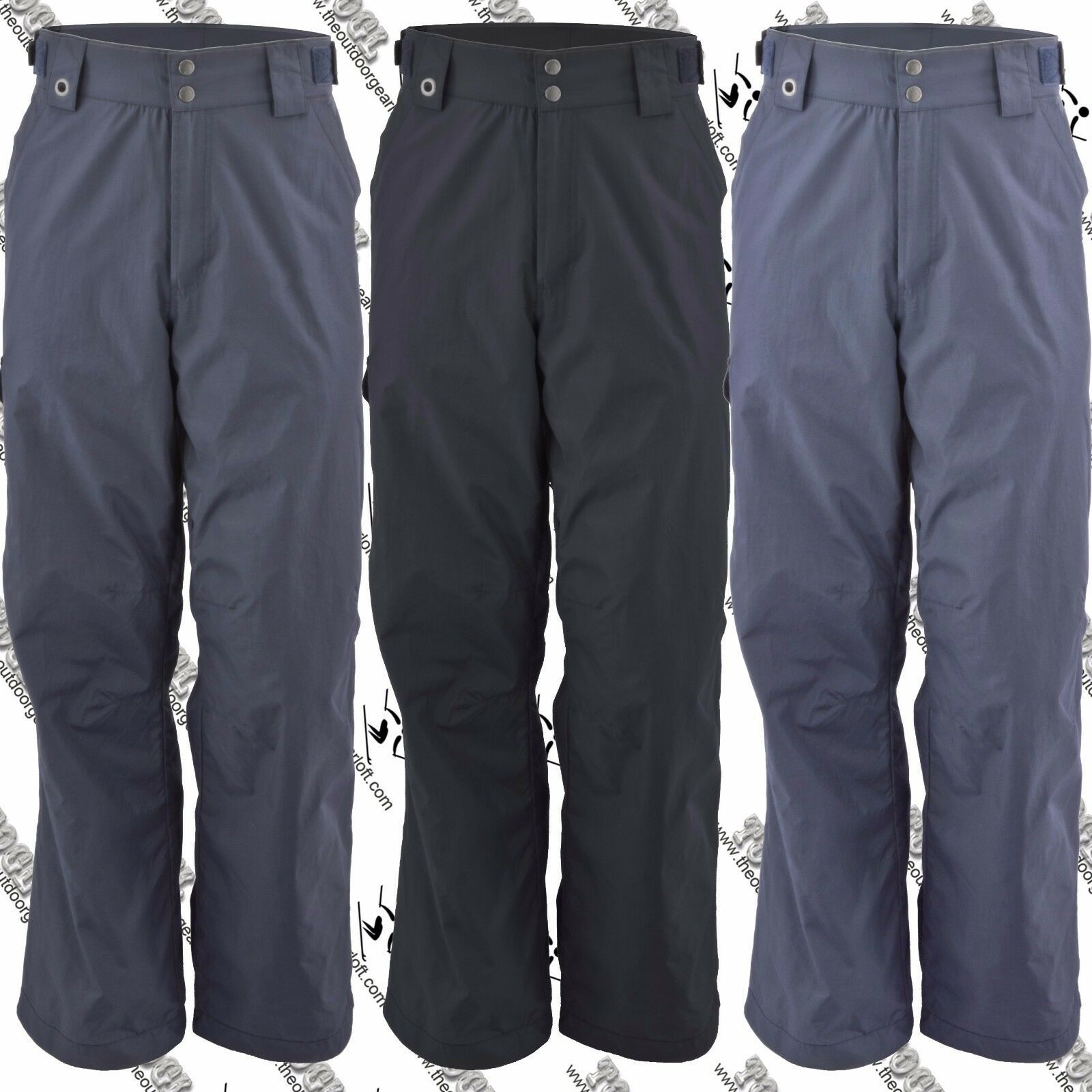 WHITE SIERRA V9788M MENS BILKO SKI SNOWBOARD SNOW SHELL  PANT S-XXL 30,32 INSEAM  outlet sale