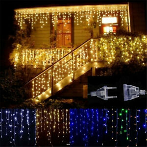 Christmas Led Lights.Details About 5m Christmas Led Curtain Icicle Droop 0 4 0 6m Waterproof Fairy String Light