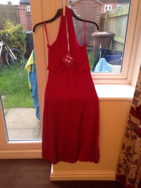 Size 6 Next Pink Halter Neck Dress