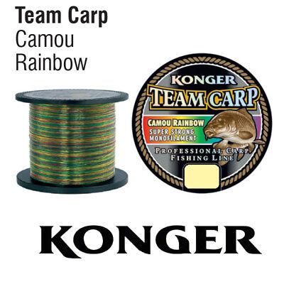 Konger Angelschnur Karpfenschnur Team CARP Black 600m Monofile Feeder Karpfen