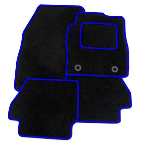 TAILORED CAR FLOOR MATS BLACK CARPET WITH BLUE TRIM VAUXHALL MOVANO 2010