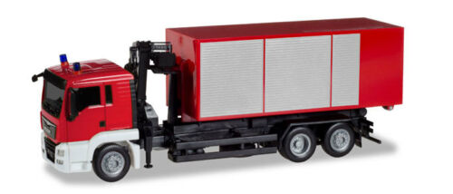 Herpa Minikit 013406-1//87 Man Tgs L Wechsellader-Lkw Mit Kran Feuerwehr
