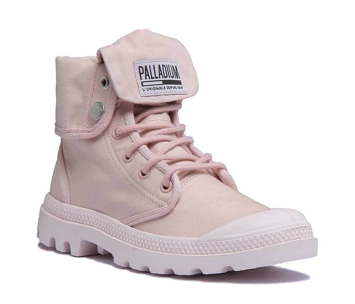 Palladium Army Trng Camp Womens pink gold Canvas Boots Size
