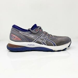 Asics-Womens-Gel-Nimbus-21-1012A156-Gray-Running-Shoes-Lace-Up-Low-Top-Size-8