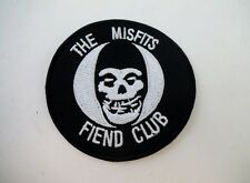 MISFITS Skull Fiend Iron On Patch Danzig Samhain Black Metal GOTH Deathrock Punk