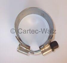 2 Stück Auspuffrohrverbinder  Rohrverbinder  Doppelschelle 65 x 125 mm