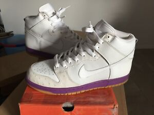 online retailer f6112 55c3e Image is loading Nike-Dunk-High-MITA-Japan-Purple-White-Gum-