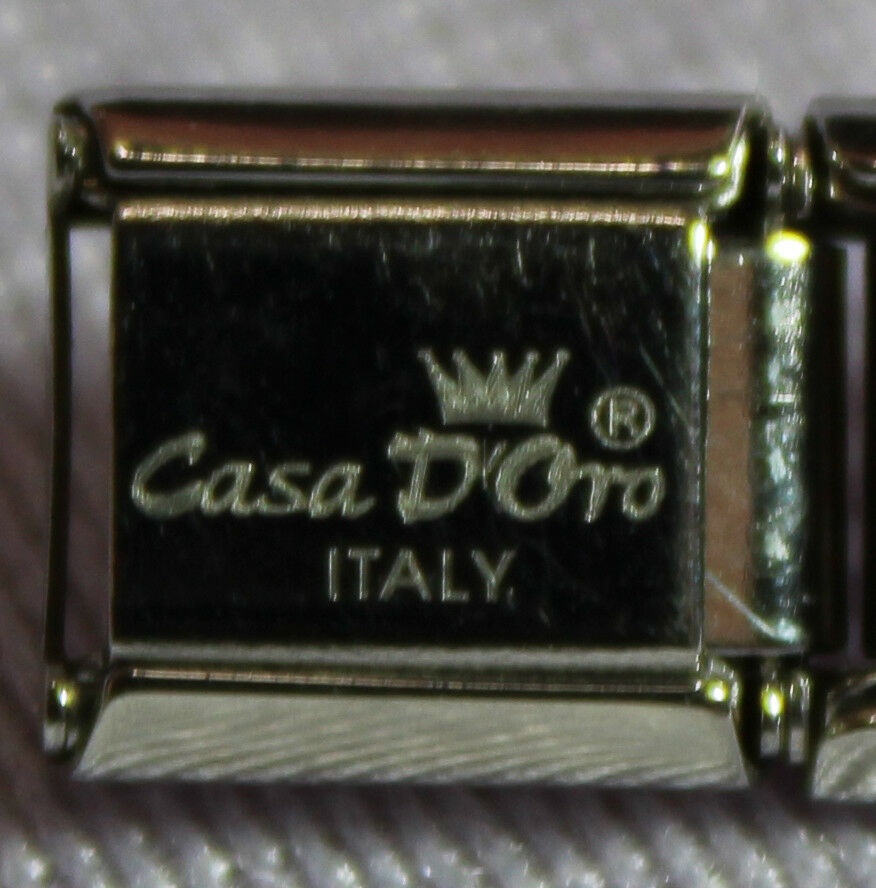 Mood Charm in Oval Shape Authentic Italian Charm by Casa D/'Oro