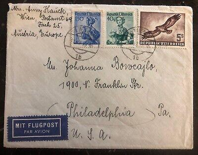1933 Viena Austria Correo Aéreo Cubierta To Philadelphia Pa Ee.uu In Sc# C58 Cv Exquisite Workmanship