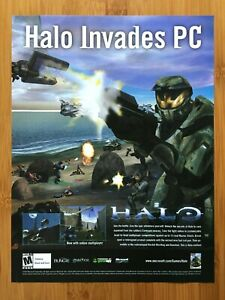 Halo Combat Evolved Original Xbox PC 2001 Print Ad/Poster Official FPS Promo Art