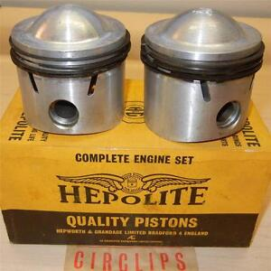 1959-ONLY-Matchless-G12-650cc-NOS-72mm-STD-Hepolite-15036-piston-assemblies-84