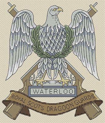 "Scots Guards Army Cross Stitch Design 6x6/"", 15x15cm, kit or chart"