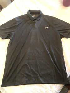 Deshacer reporte Asentar  Nike Golf Modern Fit Polo Shirt Men XXL Nike Logo Blade Collar Black Gray |  eBay