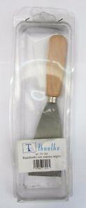 Thoelke-raschietto-acciaio-art-TD-162-2-5-cm-nuovo-con-manico-in-legno-germany