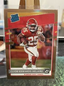2020 Panini Donruss Optic Clyde Edwards Helaire Rated Rookie Bronze RC Chiefs