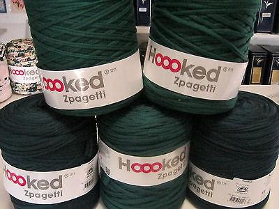 """""""Hoooked Zpagetti"""";green; 120m; Stoffgarn"""