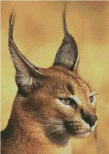 Big Ocelot Cat Cross stitch chart Pattern Wild