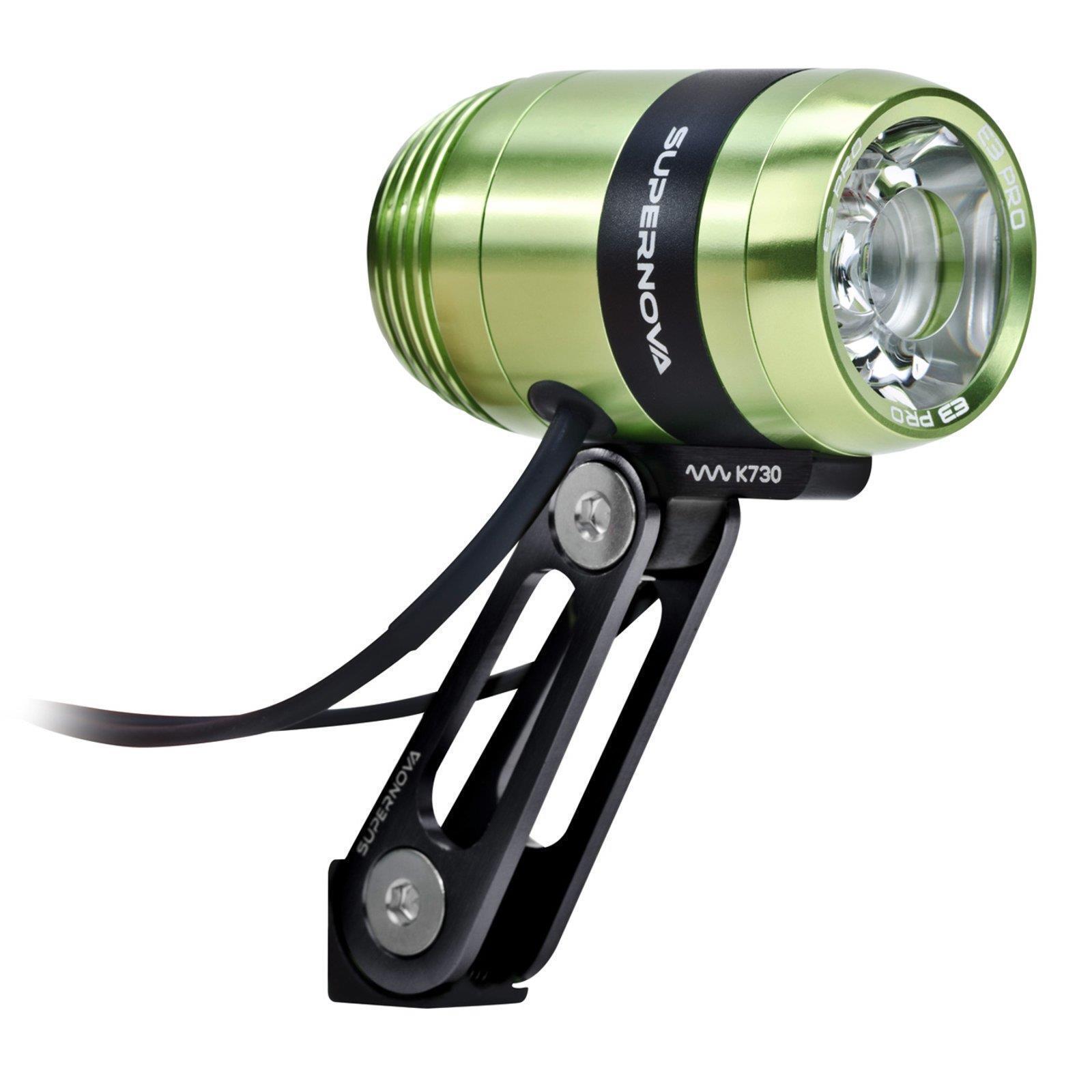 Supernova e3 Pro 2 LED DINAMO lampada bicicletta verde 205 Lumen luce di posizione 6v 3w AC